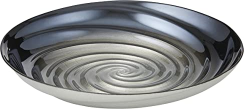 EMPORIUM DCBLE432BK Perla Oval Fruit Bowl with Swirled Texture, Black Lustre