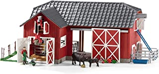 Schleich Farm World, Farm Toys for Boys and Girls Ages 3-8, 27-Piece Playset, Large Toy Barn with Farm Accessories