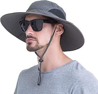 Summer Outdoor Sunscreen Square Big Fishing Hats Waterproof Breathable Wide Side Adjustable Chin Belt for Men/Women.Momoon