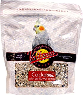 Volkman Seed Avian Science Super Cockatiel with Sunflower