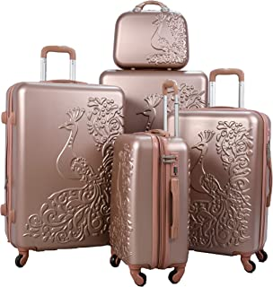 Morano Luggage Set of 5 Pieces - Rose Gold