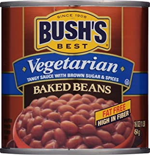 BUSH'S BEST Vegetarian Baked Beans, 16 Ounce Can (Pack of 12), Canned Beans, Baked..