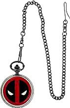 Deadpool Logo Cover Pocket Watch