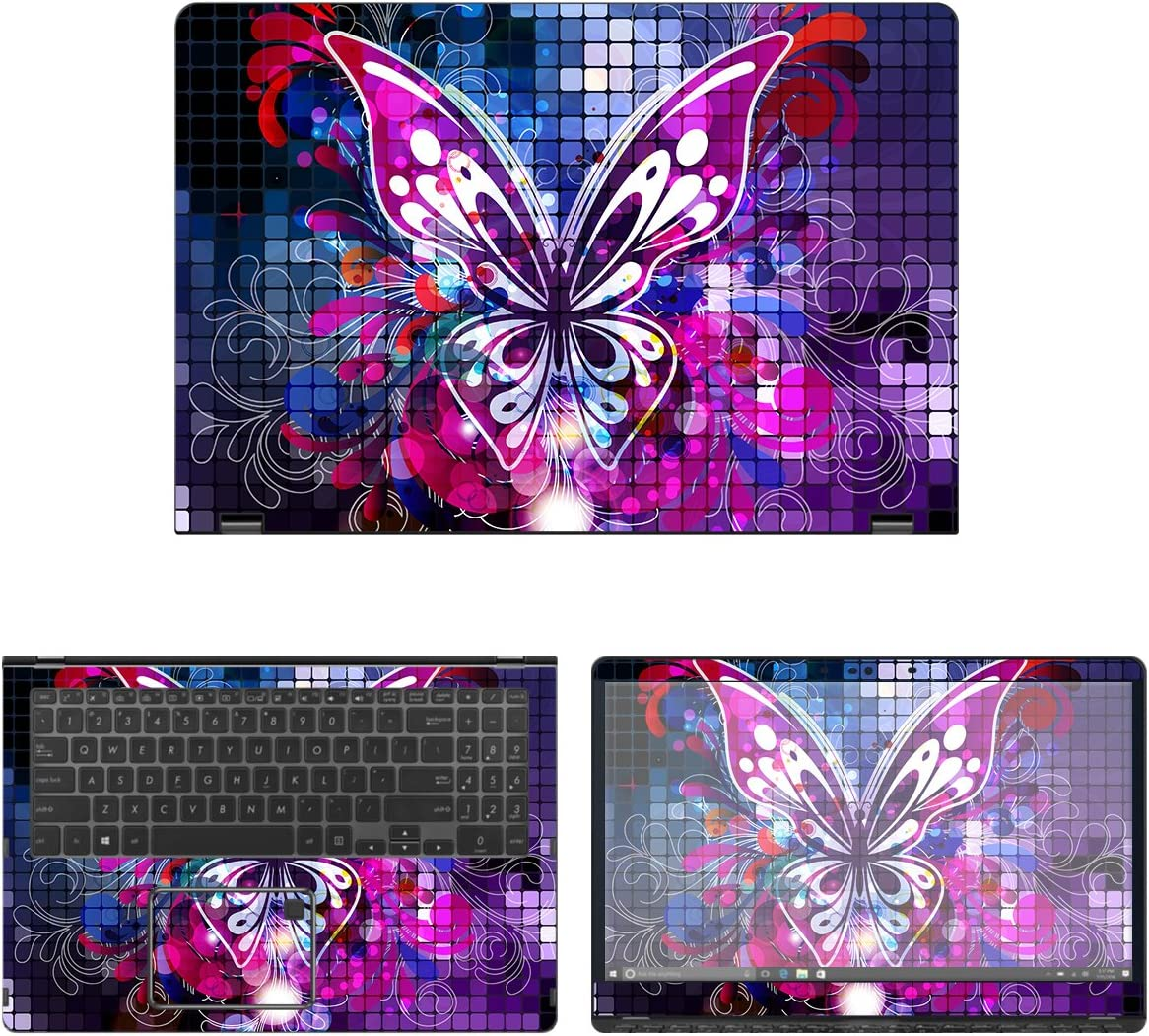 decalrus - Protective Decal Butterfly Asus Sticker Ranking TOP9 for Max 77% OFF Skin Q525