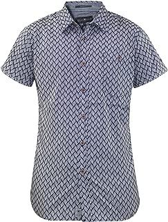 Homme chemise à carreaux crosshatch mitty coton à col à manches longues top casual