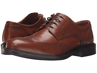 Johnston & Murphy Tabor Casual Dress Wingtip Oxford (Tan Calfskin) Men