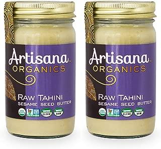 Artisana Organics Raw Tahini Sesame Seed Butter, 14 oz (2 Pack)