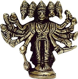 Vrindavan Bazaar White Metal panchmukhi Hanuman