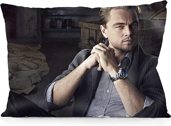 DoubleUSA Leonardo Dicaprio Pillowcases Two Sides Print Zipper Pillow Covers 20 X30