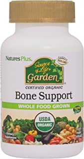 NaturesPlus Source of Life Garden Organic Bone Supplement with AlgaeCal - 1000 mg - Calcium, Magnesium - 120 Vegan Capsule...