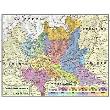 Valle D Aosta Cartina Geografica Politica.Carta Geografica Murale Regionale Piemonte E Valle Daosta 100x140 Bifacciale Fisica E Politica Familiabastida Com
