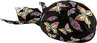 Pink Ribbon Butterfly Flydanna Headwraps Womens Skull Cap Doo Rag Fun Cotton