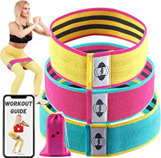 featured product PeoBeo Booty Bands for Women - Fabric Resistance Bands for Legs and Butt, Hip Bands Glute Bands Set of 3 Non-Slip Thick Wide Cloth Hip Resistance Circle Band for Bootie Workout