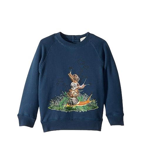 Stella McCartney Kids Billy Snail Long Sleeve Fleece Sweater (Infant)