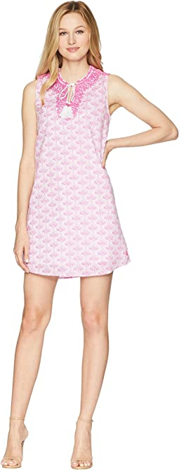 Orianne Sleeveless Embroidered Tunic Dress