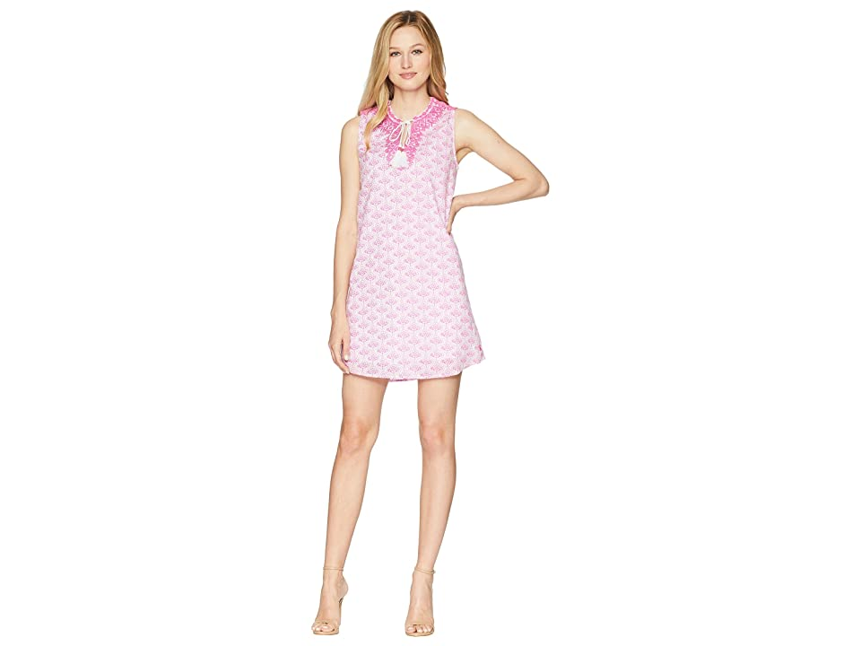 Joules Orianne Sleeveless Embroidered Tunic Dress (Pink Daisy Foulard) Women