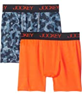 Jockey Kids - New 2-Pack Performance Boxer Brief (Little Kids/Big Kids)