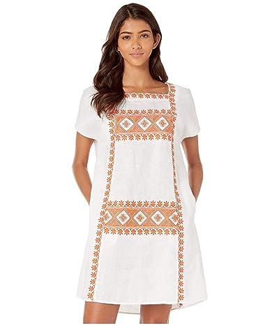 Tory Burch Swimwear Embroidered Dress (New Ivory) Women