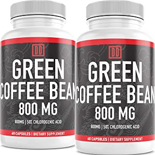 Sponsored Ad - Green Coffee Bean Extract - 60 Caps - Natural, Pure, and Gluten Free - Double Dragon Organics … (120)