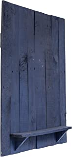Penn State Blue Dartboard Back with Shelf – Reclaimed Wood