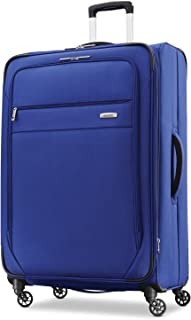 Samsonite Advena Expandable Softside Checked Luggage with Spinner Wheels, Cobalt Blue (Blue) - 109595-1217