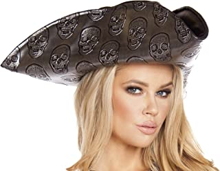 Women's Skull Embroidered Pirate Hat