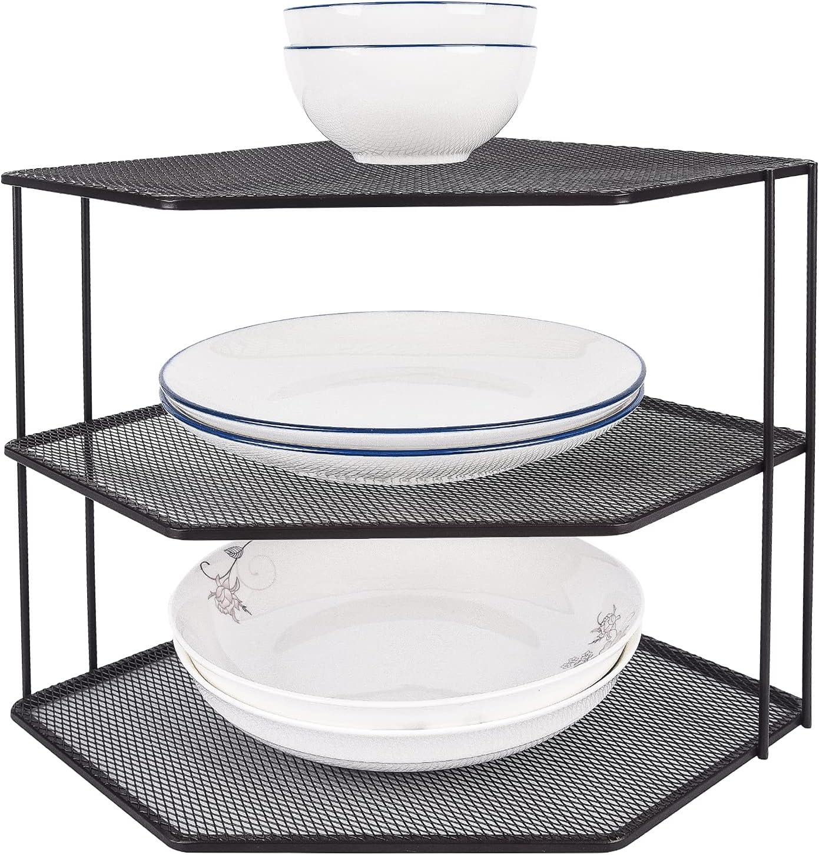 Set of 2 Mesh 送料無料激安祭 3-Tier Corner Shelf 送料無料新品 and Counter Cabinet Organizer