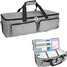 ProCase Cricut Carrying Bag Compatible with Cricut Explore Air Cricut Maker, Cricut Accessories Storage Case Bag Travel Tote Bag for Cricut Explore Air 2 Silhouette Cameo 3 (Bag Only) -Grey