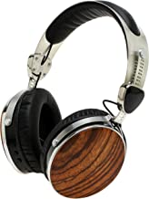 Symphonized Wraith 2.0 Bluetooth Genuine Wood Wireless Headphones with 3.5mm Cable Included for Wired Use. (Zebra Wood)