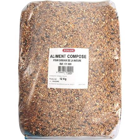 Zolux Granulés pour Oiseaux Sauvages, 12 kg, Aliments pour volatiles, Multicolore, Unique