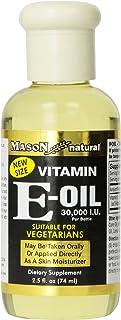 Mason Vitamins Vitamin E-Oil 30.000 I.U.. Suitable For Vegetarians. 2.5-Ounce