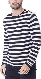 Blusão Masculino Listrado Em Tricô De Algodão Hering, Preto Branco, P