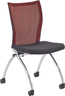 Mayline Valore Chair, Black/Red
