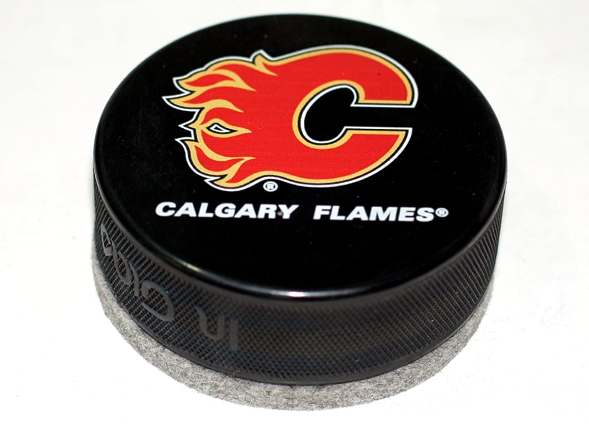 EBINGERS PLACE Calgary Flames Basic Series Hockey Puck Board Eraser for Chalk Boards and Whiteboards