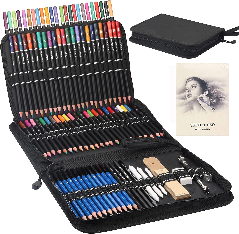Premium Drawing Pencil Set 96pcs a 72 Colored Pencils OFFicial Popular including