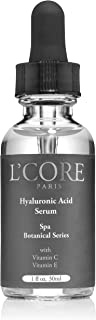 L'core Paris Hyaluronic Acid Serum Enriched with Vitamin C & E | Absorbs Quickly for Maximum Skin Hydration & Moisturizing | Fights Acne, Deep Wrinkles, Redness | Tightens Loose Skins