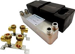 max 105kW Intercambiador de calor de placas NORDIC TEC Ba-16-26 26 placas 1/'