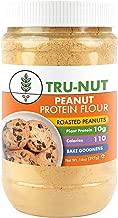 Tru-Nut Peanut Flour (18 Servings, 14 oz Jar) Great for Baking, Good Source of Plant Protein - Gluten Free, Non-GMO, Vegan, No Sugar Added