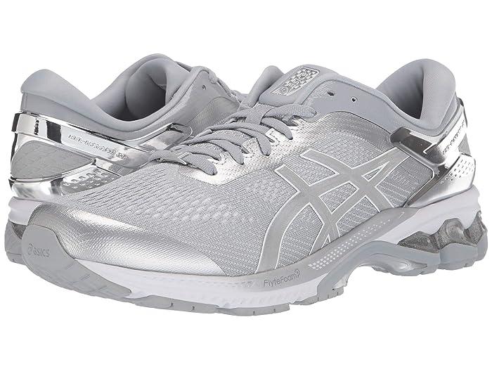 ASICS  GEL-Kayano 26 (Peidmont Grey/Silver) Mens Running Shoes