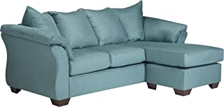 Flash Furniture Signature Design by Ashley Darcy Sofa Chaise in Sky Microfiber