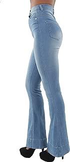 Women's Juniors Bell Bottom High Waist Bootcut Flared Jeans Bootleg