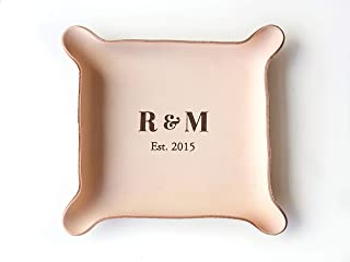 Leather Personalized Leather Catchall Tray (Large (7