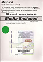 Microsoft Works Suite 99 Manual and Cd - Includes Media for Graphics Studio Greetings, Encarta Encyclopedia 99, Money 99, Streets 98