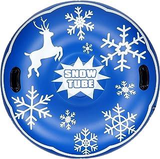 G GOOD GAIN لوله برفی 47 اینچی ، لوله برفی بادی برای کودکان و بزرگسالان ، پایین لایه دو لایه ، سورتمه برفی سنگین برای کودکان و بزرگسالان