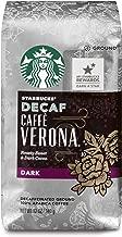 Starbucks Decaf Caffè Verona Dark Roast Ground Coffee, 12-Ounce Bag