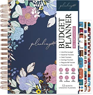 PLANBERRY Large Budget Planner & Monthly Bill Organizer with Pockets – 8.3″ x 9.4″ Home Finance & Bill Payment Organizer –... photo