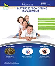 Zippered Queen Mattress/Box Spring Protector (8-11 Depth) - Bed Bug Waterproof Encasement Hypoallergenic Premium Quality Cover Protects from Dust Mites Allergens Vinyl-Free Breathable Noiseless