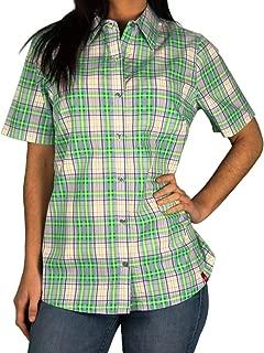 Best short sleeve plaid blouse Reviews