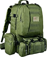 CVLIFE Built-up Military Tactical Backpack Army Survival Rucksack Assault Pack