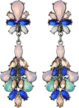 GUESS - Cluster Stone Statement Drop Earrings